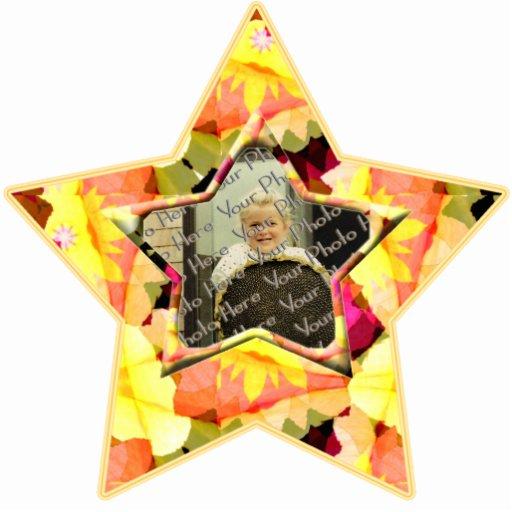 Ornamento de encargo de la estrella de la foto de  escultura fotografica