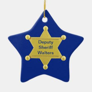 Ornamento de encargo de la estrella del navidad de ornamento para arbol de navidad
