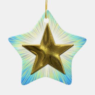 Ornamento de encargo de la estrella del oro ornamento para reyes magos