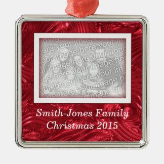 Ornamento de encargo de la foto de la imagen del adornos de navidad