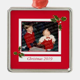 Ornamento de encargo de la foto de la imagen del ornamentos de navidad