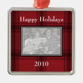 Ornamento de encargo de la foto de la tela adornos de navidad