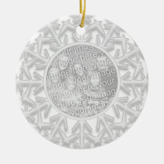 Ornamento de encargo de la foto del boda del invie ornamento para reyes magos