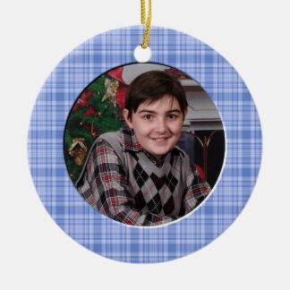 Ornamento de encargo de la foto del navidad del mu ornamente de reyes
