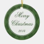 Ornamento de encargo de las Felices Navidad de los