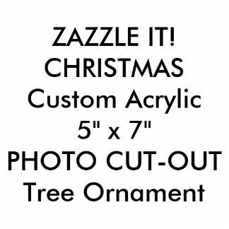 Ornamento de encargo del árbol de navidad de la adorno fotoescultura