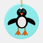 Ornamento de encargo del árbol del pingüino lindo  adorno de navidad