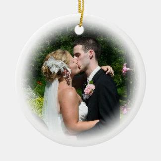 Ornamento de encargo del boda ornamento de reyes magos