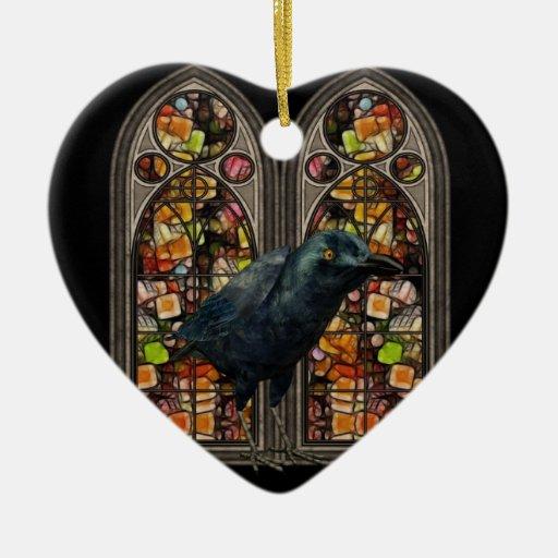 Ornamento de encargo del corazón de Samhain del Adornos