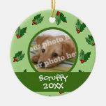 Ornamento de encargo del mascota del gato del perr ornatos