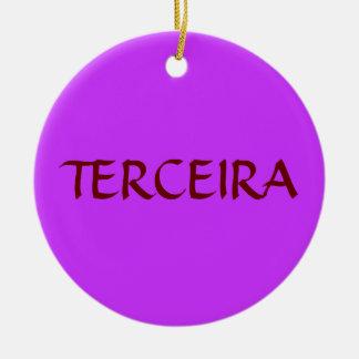 Ornamento de encargo del navidad de Azores Adorno Navideño Redondo De Cerámica