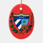 Ornamento de encargo del navidad de CUBA* Adorno Navideño Ovalado De Cerámica