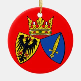 Ornamento de encargo del navidad de Essen* Adorno Navideño Redondo De Cerámica