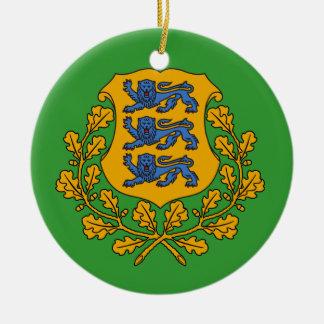 Ornamento de encargo del navidad de ESTONIA* Adorno Navideño Redondo De Cerámica
