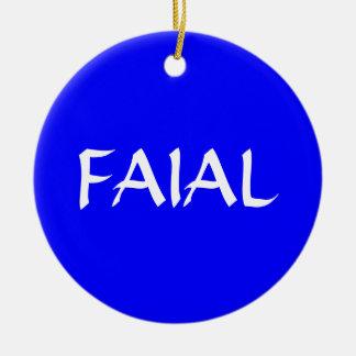 Ornamento de encargo del navidad de FAIAL* Adorno Redondo De Cerámica