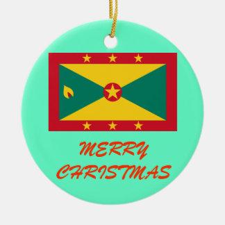 Ornamento de encargo del navidad de GRENADA* Adorno Navideño Redondo De Cerámica