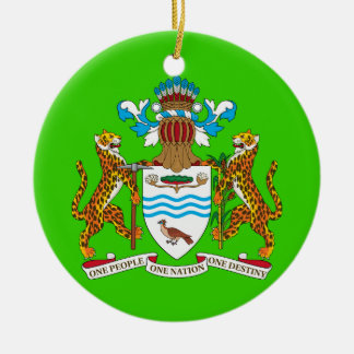 Ornamento de encargo del navidad de GUYANA* Adorno Redondo De Cerámica