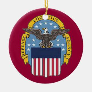 Ornamento de encargo del navidad de la agencia de adorno redondo de cerámica