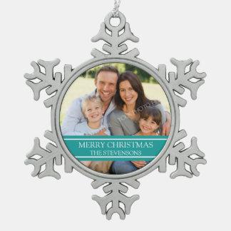 Ornamento de encargo del navidad de la familia de