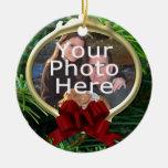 Ornamento de encargo del navidad de la foto del pi ornamento de navidad