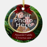Ornamento de encargo del navidad de la foto del pi ornamento para arbol de navidad
