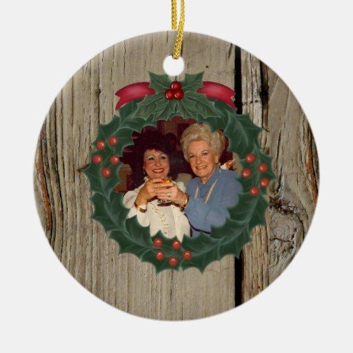 Ornamento de encargo del navidad de la viruta ornamento de navidad