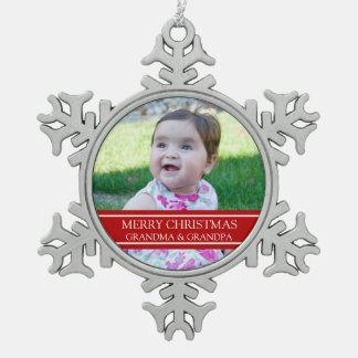 Ornamento de encargo del navidad de los abuelos de adornos