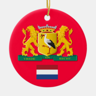 Ornamento de encargo del navidad de NETHERLANDS* Adorno Redondo De Cerámica