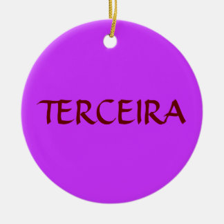 Ornamento de encargo del navidad de TERCEIRA* Adorno Redondo De Cerámica
