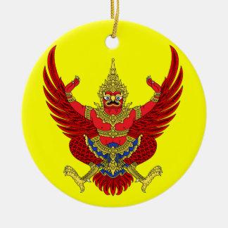 Ornamento de encargo del navidad de THAILAND* Adorno Redondo De Cerámica