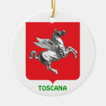 Ornamento de encargo del navidad de TOSCANA Adorno Navideño Redondo De Cerámica