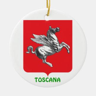 Ornamento de encargo del navidad de TOSCANA Adorno Redondo De Cerámica