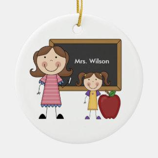 Ornamento de encargo del navidad del profesor ornamento para arbol de navidad