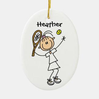 Ornamento de encargo del navidad del tenis adornos de navidad