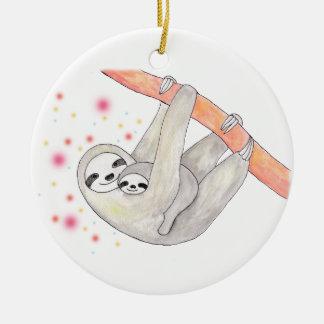 Ornamento de encargo del nuevo ornamento del bebé adorno navideño redondo de cerámica