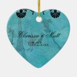 Ornamento de encargo del recuerdo del corazón de ornato