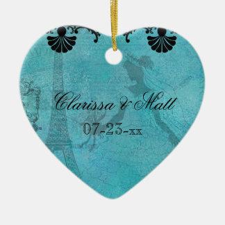 Ornamento de encargo del recuerdo del corazón de l ornato