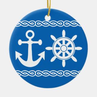 Ornamento de encargo náutico ornaments para arbol de navidad