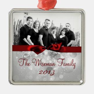 Ornamento de encargo personalizado de la FOTO del Adorno De Navidad