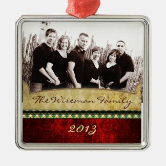 Ornamento de encargo personalizado de la FOTO del Ornato