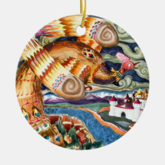 Ornamento de Firebird Ornamento Para Arbol De Navidad