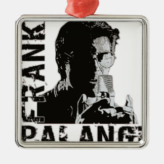 Ornamento de Frank Palangi Adorno Cuadrado Plateado