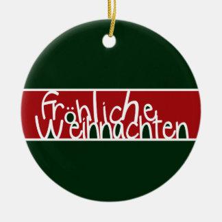 Ornamento de Frohliche Weihnachten Ornaments Para Arbol De Navidad