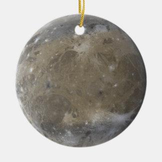 Ornamento de Ganymede Adorno Navideño Redondo De Cerámica