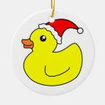 Ornamento de goma del pato del navidad ornamentos de navidad