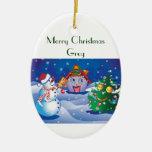 Ornamento de Greg de las Felices Navidad Adorno