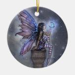Ornamento de hadas de la fantasía de la luna azul ornamento para reyes magos