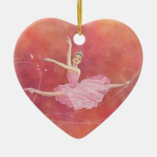 Ornamento de hadas del corazón del Sugarplum Adorno Navideño De Cerámica En Forma De Corazón