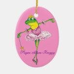 Ornamento de hadas del Froggy del ciruelo del azúc Ornamentos De Reyes