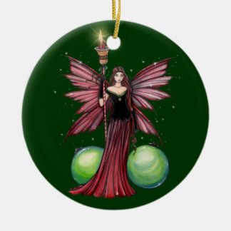 Ornamento de hadas del navidad de Yule Ornatos